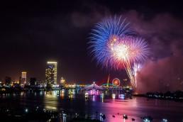 Fireworks Happy new year from Aerona